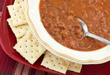 chili and crackers