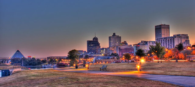 Downtown Memphis at Dawn by Barry Jones