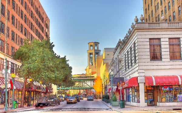 Downtown Memphis depicted by artist Barry Jones