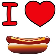 I Heart Hot Dogs - I Love Hot Dogs