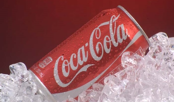 TAILGATE PARTYcart serves ice cold Coca-Cola products in 12 oz. cans