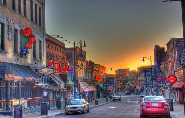Memphis Beale Street by Barry Jones