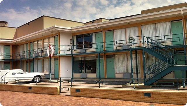 Memphis -The Lorraine Motel - Site of the Martin Luther King assassination and the National Civil Rights Museum