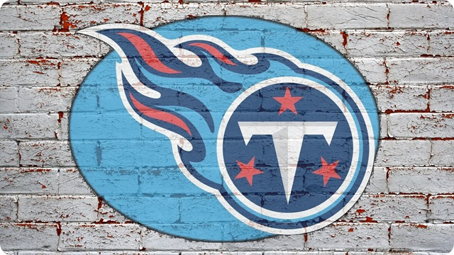 NFL Tennessee Titans wallpaper logo on grey brick