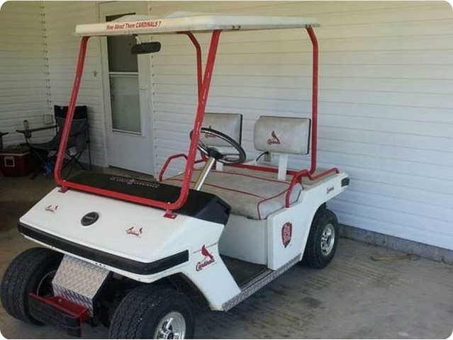 STL Cardinals golf cart 1